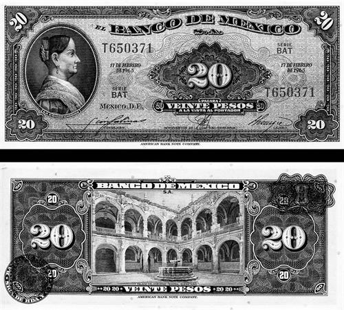 $20 Pesos, Printed by American Banknote Corporation