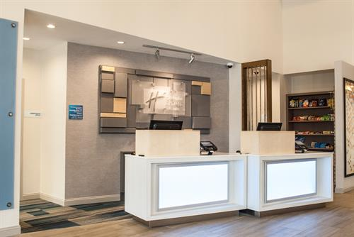 Renovated Front Desk and Market