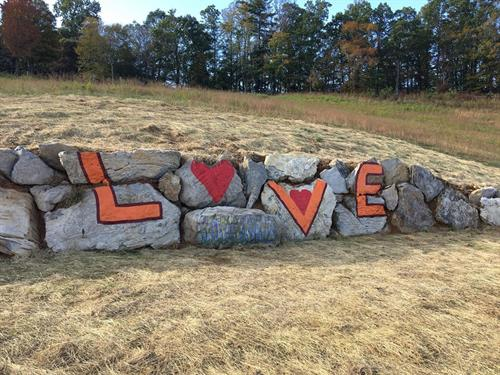 New LOVE Sign at Estate Overlook
