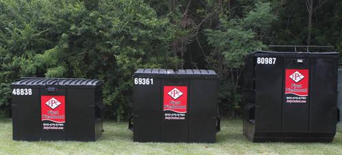 We offer 2, 4, 6, and 8 yard dumpsters for businesses