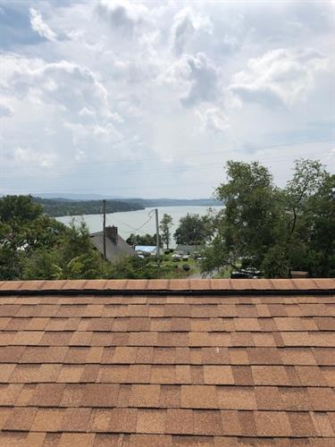 View from a rooftop at Claytor Lake