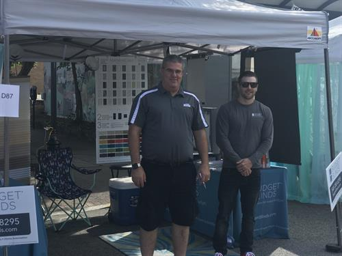 John St. Onge and Brandon Montgomery ready to man our vendor booth!