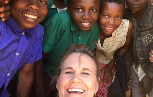 Patti teaching in Malawi