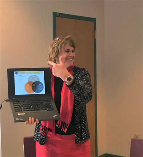 Patti teaching about global competencies.