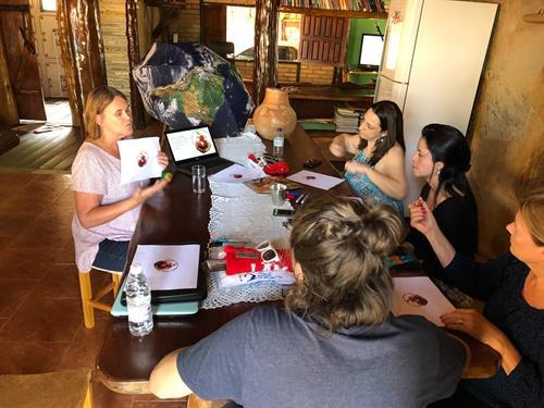 Patti teaching in Brazil