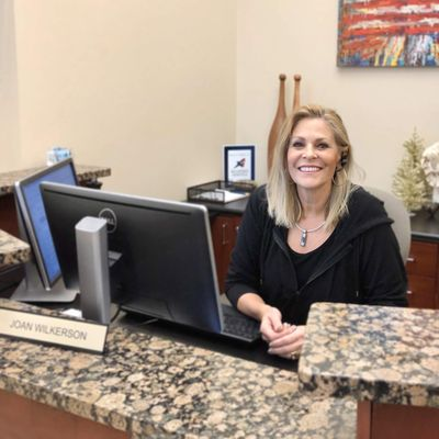 Meet our Office Manager, Joan Wilkerson. She's the friendly face to greet you when you walk in and is also the live person who answers every single phone call for us.