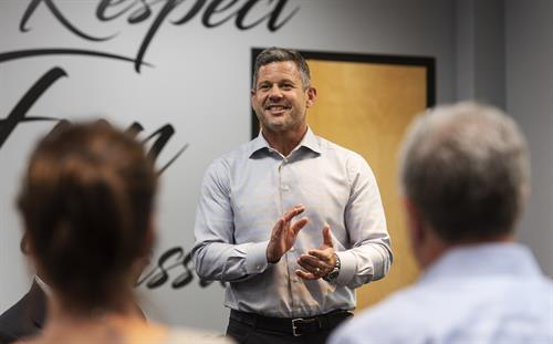 Being a trusted Advisor for over 120 years means many things, but one large one to us is being a part of the local community. Here, our EVP of Risk Management, Rich Miller, is speaking to a group of engineers, home builders, contractors and CEOs for the Building Columbia Edition of CEO Magazine. We desire to be thought leaders in our industry and love educating others.