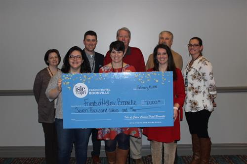 Isle of Capri Casino Hotel Boonville donates $7,000 to the Friends of Historic Boonville Foundation