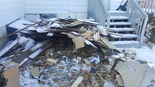 Construction debris removal in Exeter, PA