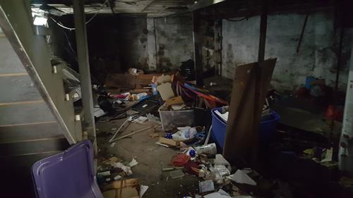 Basement cleanout in Pittston, PA