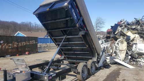 Taking a load of scrap metal to the yard in Scranton, PA