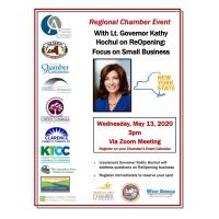 ReOpening: Focus on Small Business w/ Lt. Governor Kathy Hochul - a Regional Chamber Event