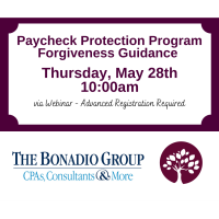 CCC WEBINAR: Paycheck Protection Program Forgiveness Guidance
