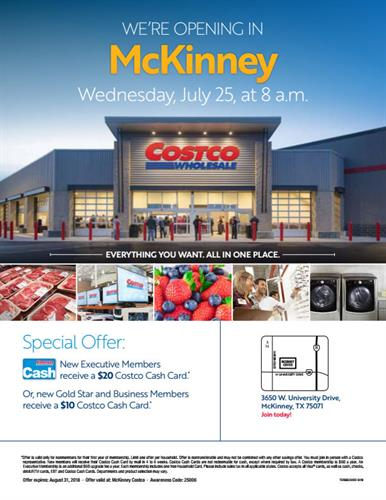 Costco Wholesale McKinney Grand Opening.