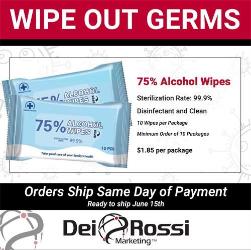 Alcohol Wipes - In Stock - Ship Ready