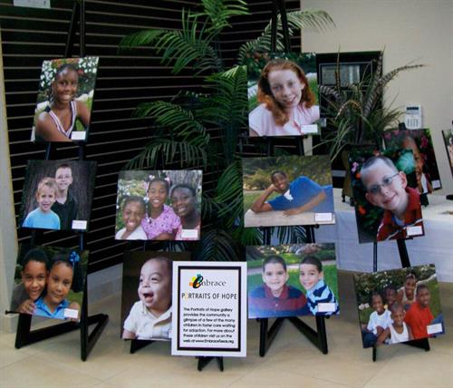Portraits of Hope (display of local children waiting to be adopted)