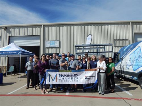our ribben cutting with The McKinney Chamber