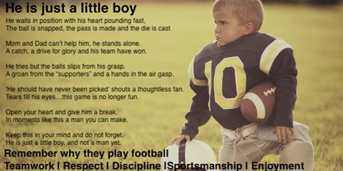 Youth sport is not only about winning, it is about building character also.