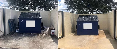 Dirty Dumpster - Before and After