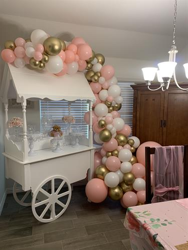 Treat Cart with Balloon Decor