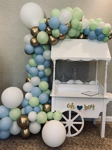 Treat Cart with Balloon Garland