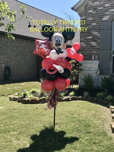 Balloon Bouquet Yard Decor