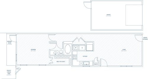 Bliss - 1 bedroom/1 bathroom/1 car garage/private patio - 816 sq.ft