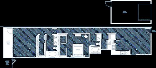 Idyllic - 2 bedroom/2 bathroom/1 car garage/private patio - 1268 sq.ft