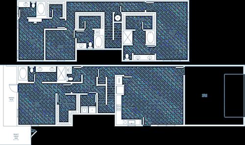 Casita - 4 bedroom/4.5 bathroom/2 car garage/private patio - 2726 sq.ft