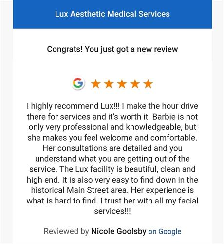 Amazing 5 Star Reviews on Google, Facebook, Yelp and more