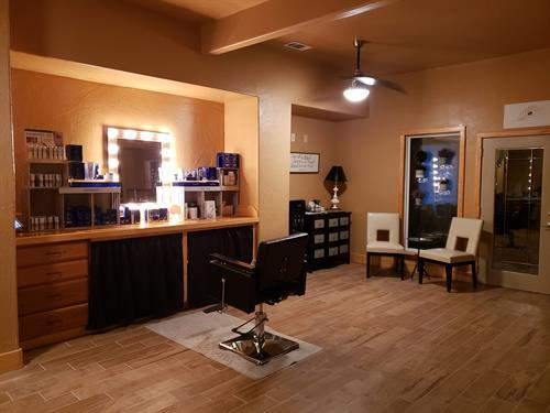 Our Showroom and tester bar with our ZO product line.