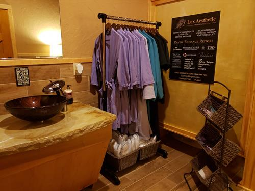 Clean & fresh spa robes are available for your facial spa or massage experience