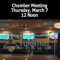 March General Meeting - The Turning Point Restaurant