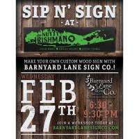 Sip 'n Sign Wood Sign Paint NIght