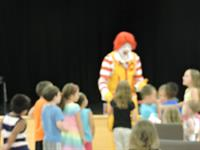 Ronald McDonald at the Library