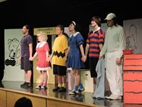 Charlie Brown and the Gang at the Library