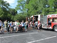 Fire Truck Day at the Library