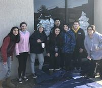 Howitt Middle School Art Students Paint the Town