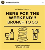 OPEN FOR WEEKEND BRUNCH TAKEOUT/  DELIVERY