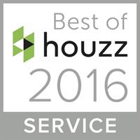 Thank you for voting us best of service with Houzz 2 years in a row!