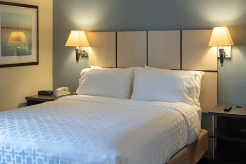 One queen bed in all of our suites.