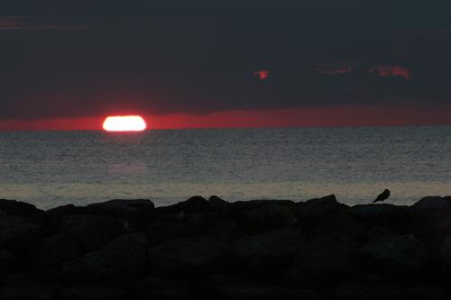 Sunset at Presque Isle State Park in Erie, PA