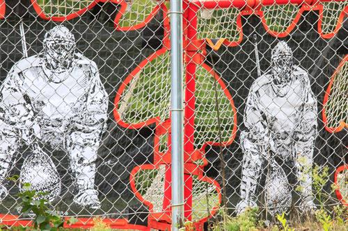 Lacrosse Mural at Nelson Pond in Moon Park