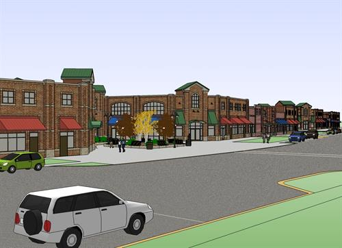 Village of Pine Retail Development Rendering
