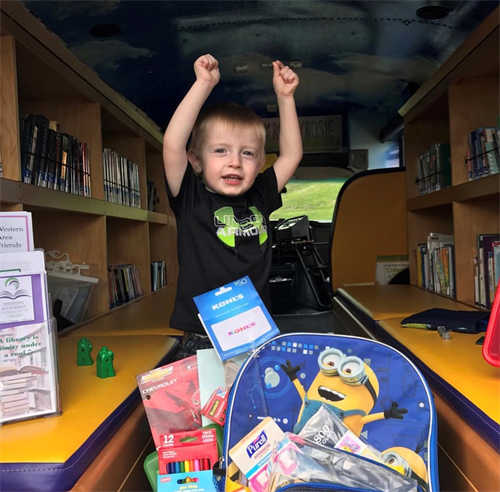 Our Book Bus rocks!!  We make many stops throughout the community, including over 13 monthly visits to local preschools and daycares.