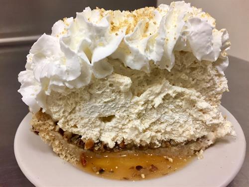 Caramel Praline Mousse Pie