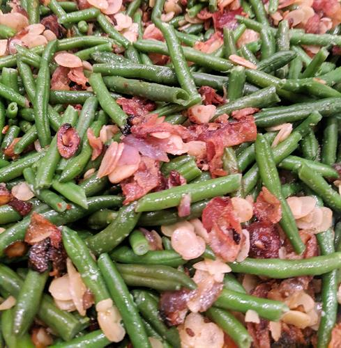 Green Bean Almondine another popular catering/banquet room item.