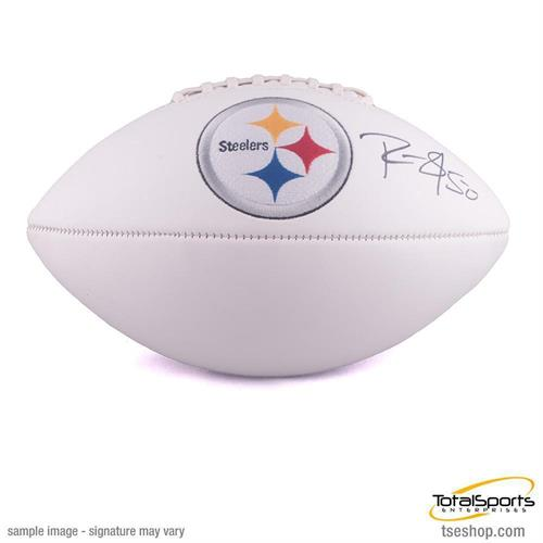 Ryan Shazier Autographed White Logo Football