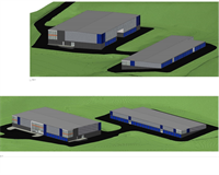 Architectural rendering of the new Robinson Twp. Guardian Storage