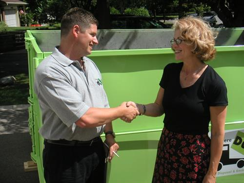 Our Drivers are Dumpster Delivery Experts, professional, friendly and informative